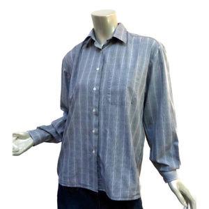 Women's Burberrys London Glen Plaid Shirt L-XL